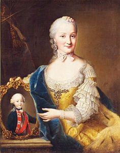 Friederike Dorothee of Brandenburg-Schwedt, Duchess of Württemberg, with a portrait of her eldest son Frederick