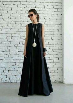 Buy Now SALE Black Maxi Dress/Loose Long Dress/Plus Size Kaftan/Long Black Dress/Sleeveless Black Dress/Maxi Black Dress/Oversize Black Kaftan/Maxi by Metamorphoza. Look Fashion, Womens Fashion, Fashion Design, Cheap Fashion, Female Fashion, Fashion Black, Trendy Fashion, Fashion Outfits, Black Kaftan