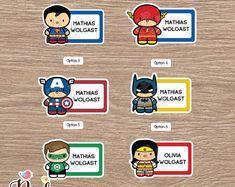 Super Hero School name labels Labels for school School Printable Classroom Posters, School Name Labels, Lolo, School School, Game Logo, Waterproof Stickers, School Supplies, Names, Crafty