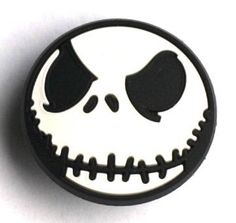 Jack Skellington Smiling FACE Nightmare Croc Hole Accessories Shoe Charm