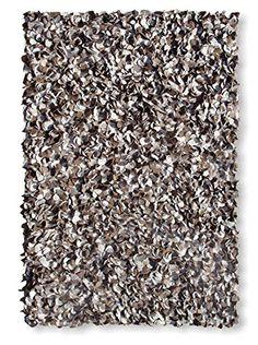 "The Rug Market Peony Rug, Brown/Ivory/Sand, 16"" x 27"""