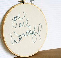 You are wonderful by makenziandmadilyn on Etsy, $35.00