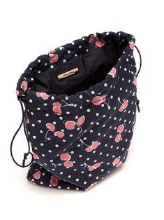Cherry-print nylon pouch   Miu Miu   MATCHESFASHION.COM