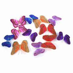 Butterfly Garland Multi Glitter