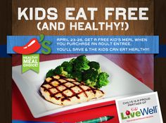 CHILI'S $$ Coupon for FREE Kid's Meal (4/23 – 4/25)!