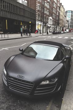 Audi. I have a weakness for matte black paint jobs.