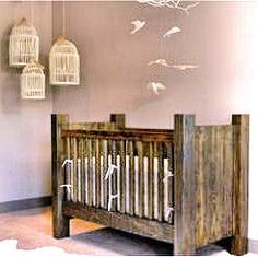 Rustic homemade wooden baby crib plans blueprints