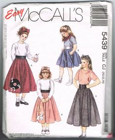 Long Retro Style Circle Skirt Pattern