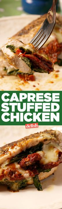 Caprese Stuffed Chicken will make you fall in love with chicken for dinner again. Get the recipe from Delish.com.