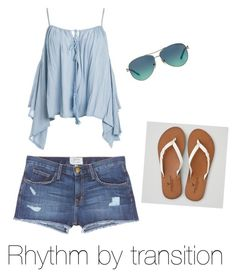 Rhythm by transition by explorer-14571193261 on Polyvore featuring polyvore, fashion, style, Sans Souci, Current/Elliott, American Eagle Outfitters, Tiffany & Co. and clothing
