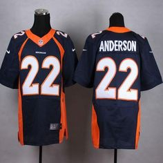 NFL Jersey's Mens Denver Broncos CJ Anderson Nike Orange Game Jersey