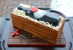Wine bottle cake! More