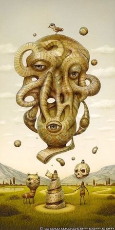 Spectacular Surrealistic Paintings by Naoto Hattori from Japan Surrealism Painting, Pop Surrealism, School Of Visual Arts, Macabre Art, Lowbrow Art, Wow Art, Art Graphique, Weird Art, Japanese Artists