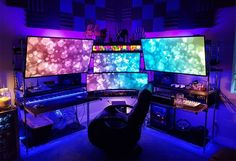 40 Best Video Game Room Ideas + Cool Gaming Setup Guide) Look. 40 Best Video Game Room Ideas + Cool Gaming Setup Guide) Looking for the best vi Ultimate Gaming Setup, Best Gaming Setup, Gaming Room Setup, Desk Setup, Cool Gaming Setups, Office Setup, Gaming Chair, Office Decor, Computer Gaming Room