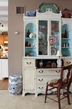 beach cottage china closet