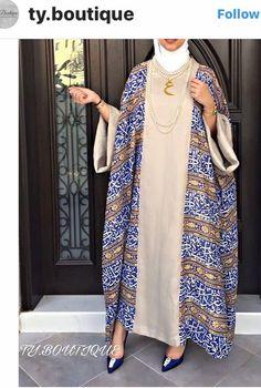 Iranian Women Fashion, Arab Fashion, Islamic Fashion, African Fashion, Mode Abaya, Mode Hijab, Modest Fashion Hijab, Fashion Dresses, Simple Gown Design