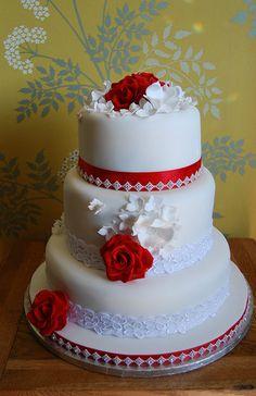 Indian Weddings Inspirations. Red wedding cake. Repinned by #indianweddingsmag indianweddingsmag.com