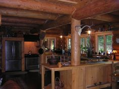 Log Cabin Interior Paint Ideas | Fireplace by Bob Dudas and Jim Spath .....