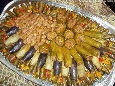 Egyptian food stuffed squash and eggplant (Mahshi)