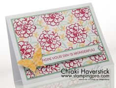 February 2016 Stamp-A-Stack #4: Lovely Rose Red Flowers