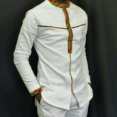 African men clothing, African wedding suit, African attire, African fashion, Shirt and pant. African Shirts For Men, African Clothing For Men, African Men Fashion, Fashion Men, Ankara Fashion, Africa Fashion, Tribal Fashion, Fashion Hats, African Women