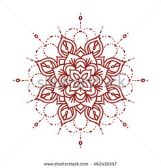 Line mehndi mandala. Intricate ornate henna design. Template for coloring book. Vector illustration.