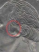 2001 P KENTUCKY - STATE QUARTER ERROR COIN-OBV- FLATTENED METAL ON EAR-UNCIRC