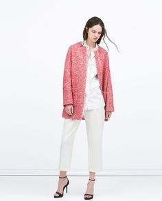 Image 1 of BOUCLÉ COAT from Zara