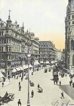 Hungary, Vienna, Old Photos, Austria, Paris Skyline, History, World, City, Poster