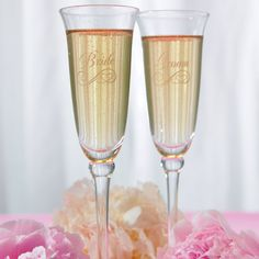 Refined Etched Flutes - Bridal Everything