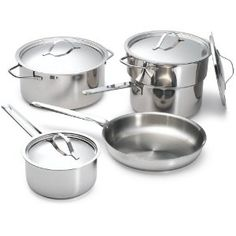Paderno Pots for Eternity 9 Piece Charlottetown Cookware Set Stainless Steel Pot, Obsessive Compulsive Disorder, Cookware Set, Cleaning Hacks, Pots, Front Teeth, Miscellaneous Things, Declutter, Favorite Things
