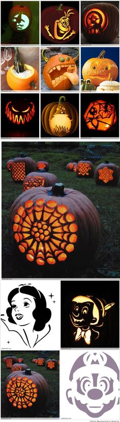 Pumpkin Carving Patterns awesome fall, harvest , thanksgiving and halloween pumpkin porch decoration ideas