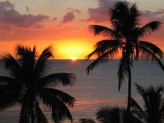 Sunset @ Rincón, Puerto Rico.  Rincon has the most beautiful sunsets.