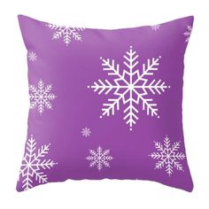 Purple Snowflakes pillow snowflakes cushion Purple pillow Purple... (855 UAH) ❤ liked on Polyvore featuring home, home decor, throw pillows, purple home accessories, snowflake throw pillow, purple home decor, christmas throw pillows and purple throw pillows