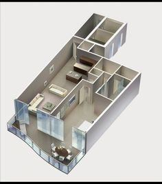 (KWP) 3-D Modeling and Rendering - 3D Axo Floor Plan