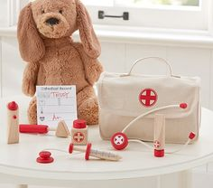 Doctor Set | Pottery Barn Kids  jack is SO into this...would love to find a working stethoscope.