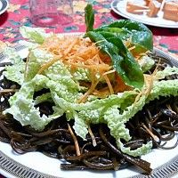 Spaghetti mare e terra Primi piatti crudi - Cibocrudo il Raw Food Italiano