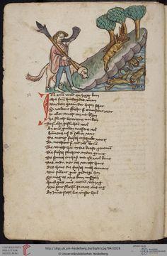 Cod. Pal. germ. 794: [Ulrich] Boner: Edelstein (Schwaben (Oberrhein? [Upper Rhine?]), um 1410/1420), Fol 11v