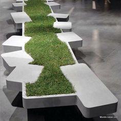 49 Ideas Street Furniture Design Architecture Benches For 2019 Urban Landscape, Landscape Design, Garden Design, Design Jardin, Urban Furniture, Street Furniture, Furniture Design, Bench Furniture, Furniture Movers
