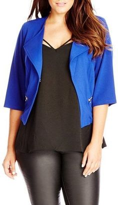 Plus Size Crop Jacket