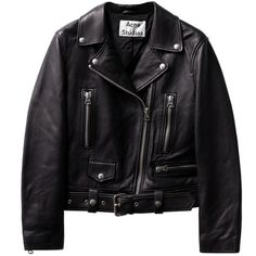 Mock Leather Black ($2,100) ❤ liked on Polyvore featuring outerwear, jackets, tops, coats & jackets, black jacket, moto jacket, genuine leather jacket, cropped moto jacket and biker jacket