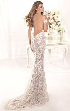 Sheath/Column Ivoray Lace overlay Champagne Lining Off-the-shoulder Floor-length Long Prom Dresses