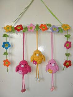 pájaros en ganchillo   -   cute crocheted birds