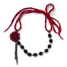 Tutorials | Tassel Rose Necklace | Handmade Fashion Jewellery – Devoted to DIY Jewellery