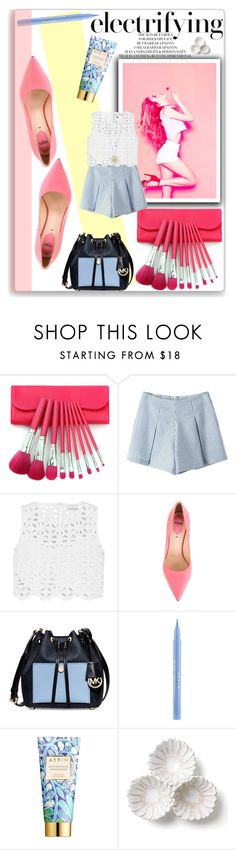 """""""Pastel Spring"""" by thestrawberryfields ❤ liked on Polyvore featuring Miguelina, Fendi, Michael Kors, Stila, AERIN, Bellezza, Daisy Jewellery, Daisy, lace and pastel"""