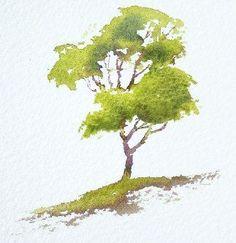 watercolor trees // art // drawing // inspiration // illustration // artsy // sketch