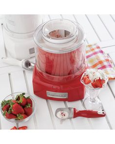 Cuisinart Cuisinart® Classic Frozen Yogurt, Ice Cream and Sorbet Maker, Pomegranate $59.95 $110.00  at Sur La Table Our fully automatic machine makes 1½ quarts of your favorite frozen dessert in as little as 20 minutes.