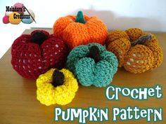 """""""This crochet pattern teaches you how to make the basic design for a pumpkin so you can make it in any size you wish! Pattern comes with pictures and video tutorials for Right and Left Handed."""""""