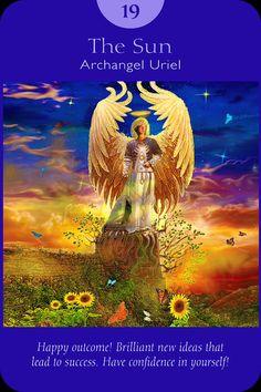 XIX. The Sun - Archangel Uriel  - Angel Tarot Cards by Doreen Virtue and Radleigh Valentine. Artwork by Steve A. Roberts