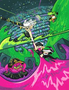 ☆ Nintendo Splatoon, Splatoon 2 Art, Splatoon Comics, Squid Games, Splatoon Squid Sisters, Callie And Marie, Super Smash Bros, Cosplay, Drawing S